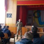 Зустріч юнаків училища з представниками військового комісаріату